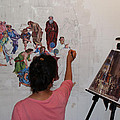 Behind The Scenes Mural 4 by Becky Kim