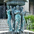 Beiger Mansion Fountain  Mishawaka Indiana by Rory Cubel