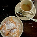 New Orleans Beignets And Coffee Au Lait  by Michael Hoard