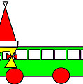 Belinda The Bus Wishes You A Merry Christmas by Asbjorn Lonvig