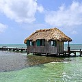 Belize Pier And Seascape by Kristina Deane