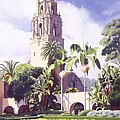 Bell Tower In Balboa Park by Mary Helmreich