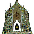 Bell Tower In Wat Po In Bangkok-thailand by Ruth Hager