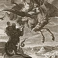 Bellerophon Fights The Chimaera, 1731 by Bernard Picart