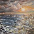 Belmar Nj Shore by Katalin Luczay