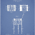 Bemis Snare Drum Patent Drawing From 1886 - Light Blue by Aged Pixel
