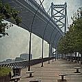 Ben Franklin Bridge And Pier by Tom Gari Gallery-Three-Photography