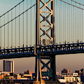 Ben Franklin Bridge Over Delaware River by Panoramic Images