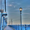 Ben Franklin Bridge Walkway by Jennifer Ancker