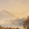 Ben Venue And The Trossachs Seen From Loch Achray by Anthony Vandyke Copley Fielding
