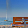 Bench And Fountain  by Jaroslav Frank