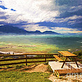 Bench At Kaikora With Approaching Storm by Sheila Smart Fine Art Photography