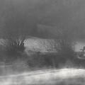 Bench In The Mist by Don Schwartz