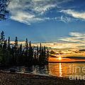Beautiful Sunset At Waskesiu Lake by Viktor Birkus
