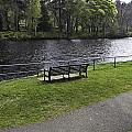 Bench On Shore Of River Ness In Inverness by Ashish Agarwal