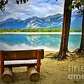 Bench View At Lake Edith by Tara Turner