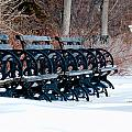 Benches In The Snow by Larry Jost
