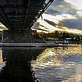 Beneath The New Hope - Lambertville Bridge by Michael Brooks