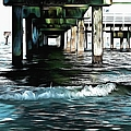 Beneath The Pier  by L Wright