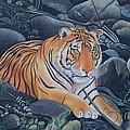 Bengal Tiger Wild Life Realistic Painting Water Color Handmade Artwork India Uk by Richa  Maheshwari