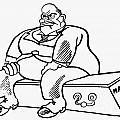 Benito Mussolini Cartoon by Granger