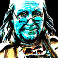 Benjamin Franklin - Historic Figure Pop Art By Sharon Cummings by Sharon Cummings