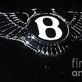 Bentley Logo Hood Ornament #  2 by Marcus Dagan
