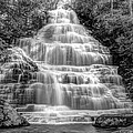 Benton Falls In Black And White by Debra and Dave Vanderlaan