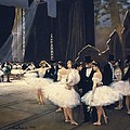 Beraud, Jean 1849-1935. Backstage by Everett
