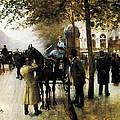 Beraud, Jean 1849-1935. The Boulevards by Everett