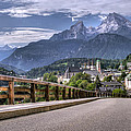 Berchtesgaden Road And Mountain by Ioan Panaite