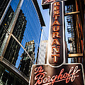 Berghoff Restaurant Sign In Downtown Chicago by Paul Velgos