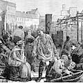 Berlin Fish Market, 1874 by Granger