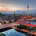 Berlin Germany Major Landmarks At Sunset by Michal Bednarek