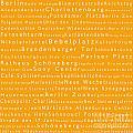 Berlin In Words Orange by Sabine Jacobs