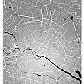 Berlin Street Map - Berlin Germany Road Map Art On Colored Backg by Jurq Studio