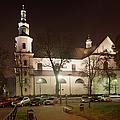Bernandine Church At Night In Krakow by Artur Bogacki