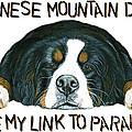 Bernese Mountain Dog Paradise by Liane Weyers