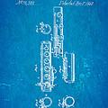 Berteling Flute Patent Art 1868 Blueprint by Ian Monk