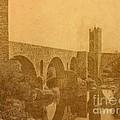 Besalu Bridge by Nigel Fletcher-Jones