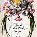 Best Easter Wishes To You 1909 Vintage Postcard by Audreen Gieger