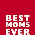 Best Moms Card- Red- Two Moms Mother's Day Card by Linda Woods