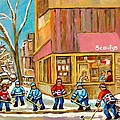 Best Sellers Original Montreal Paintings For Sale Hockey At Beauty's By Carole Spandau by Carole Spandau