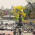 Bethesda Fountain Central Park Nyc by Linda  Parker