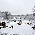 Bethesda Fountain In Central Park by Susan Candelario