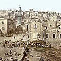 Bethlehem Manger Square 1900 by Munir Alawi
