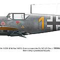 Bf 109f-4 W.nr.7420. Staffelkapitan 9./jg 52 Oblt. Hermann Graf. May 1942. Charkow-rogan. by Vladimir Kamsky