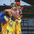 Bian Jiang Dancer  Pastel Chalk by David Lange