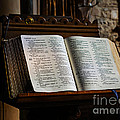 Bible Open On A Lectern by Louise Heusinkveld