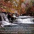 Bible Verse And Inspirational Greeting Card Autumn Fine Art Photography Prints And Posters. by Jerry Cowart